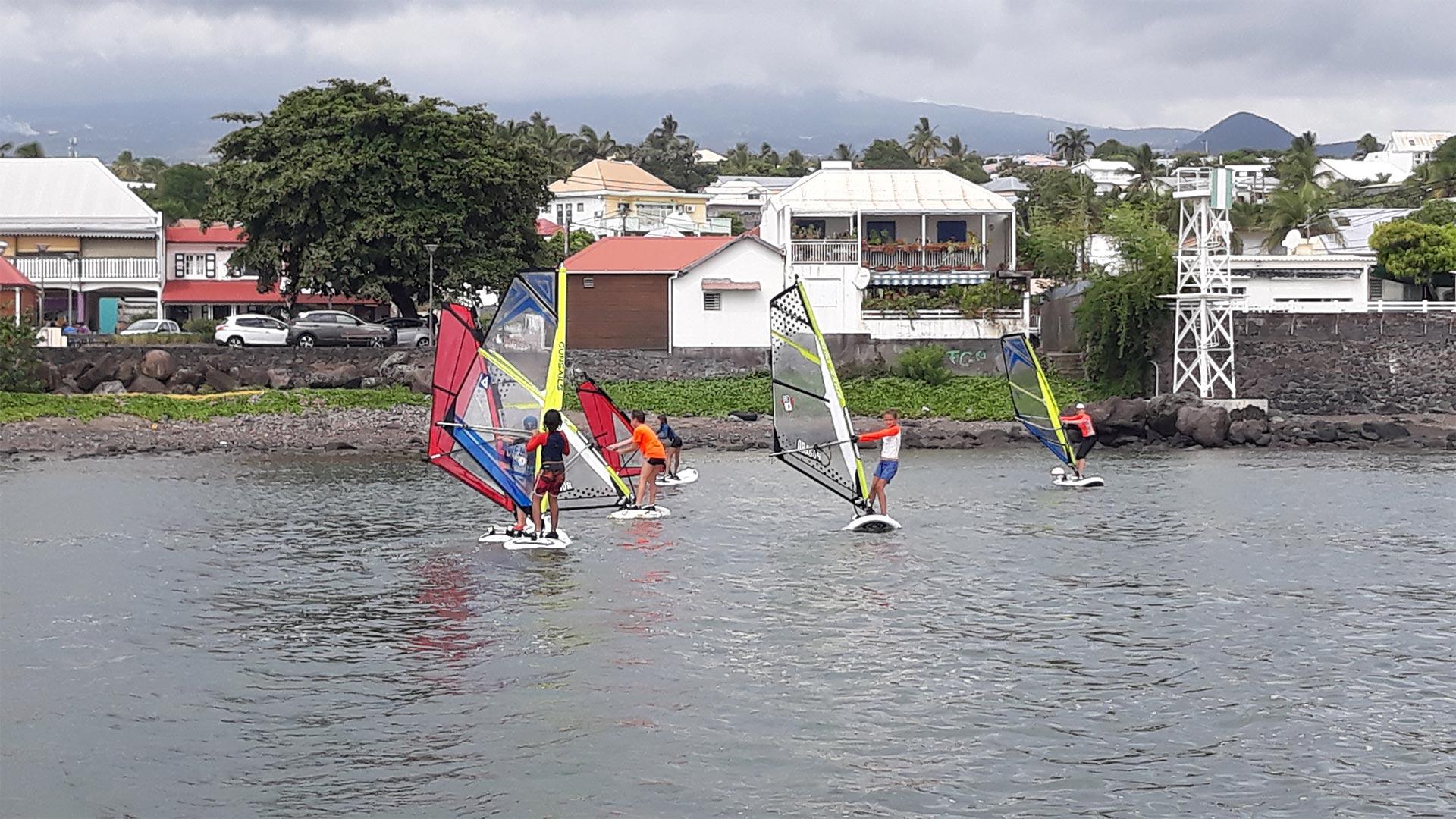 ANSP Saint Pierre La Réunion planche a voile cours